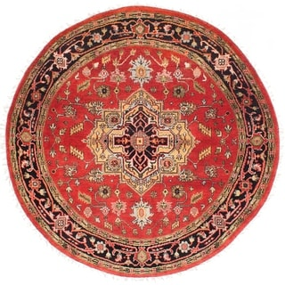 eCarpetGallery  Hand-knotted Serapi Heritage Red Wool Rug - 6'1 x 6'1