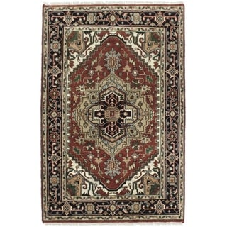 eCarpetGallery  Hand-knotted Serapi Heritage Cream, Dark Orange Wool Rug - 4'0 x 6'1