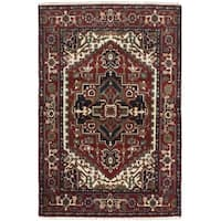 eCarpetGallery  Hand-knotted Serapi Heritage Dark Red Wool Rug - 4'0 x 6'0