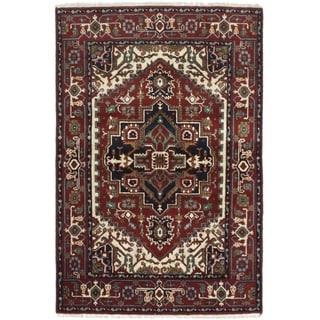 eCarpetGallery  Hand-knotted Serapi Heritage Dark Red Wool Rug - 4'0 x 6'0
