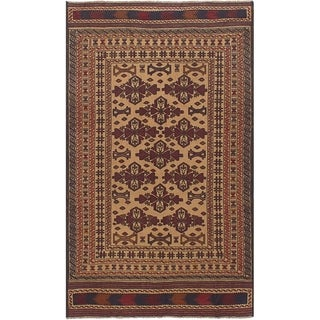 eCarpetGallery  Flat-weave Shiravan Sumak Tan Wool Sumak - 4'2 x 7'1