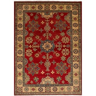 eCarpetGallery  Hand-knotted Finest Gazni Red Wool Rug - 5'0 x 7'3
