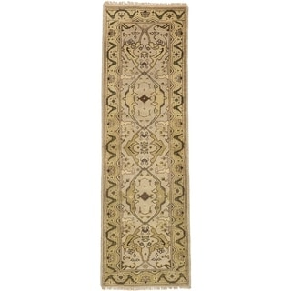 eCarpetGallery  Hand-knotted Royal Ushak Cream Wool Rug - 2'7 x 8'1