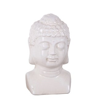 Privilege Antique White Ceramic Buddha