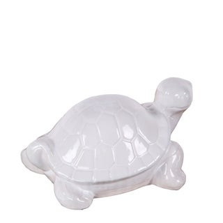 Privilege White Ceramic Turtle