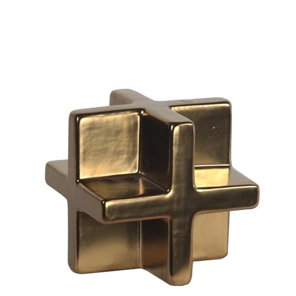Privilege Ceramic Matt Gold Table Decor