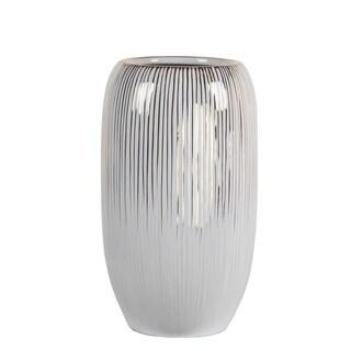 Privilege Small Ceramic White Drip Vase
