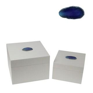 Privilege Set of 2 White  Square Boxes