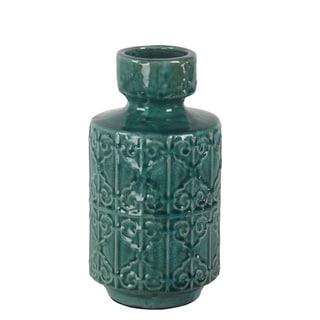 Privilege Blue Ceramic Vase