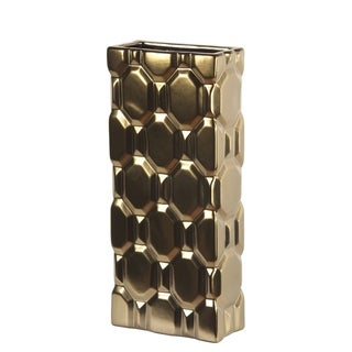 Privilege Ceramic Matt Gold Vase
