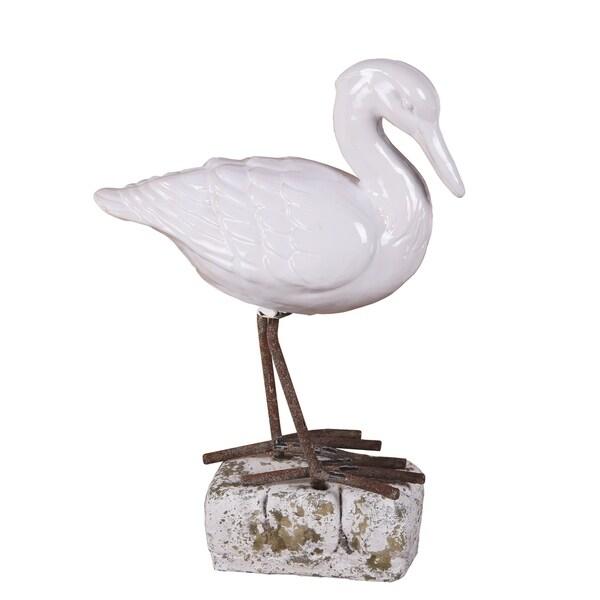 Privilege White Ceramic Bird