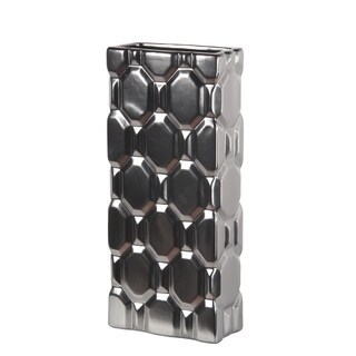 Privilege Ceramic Matt Silver Vase