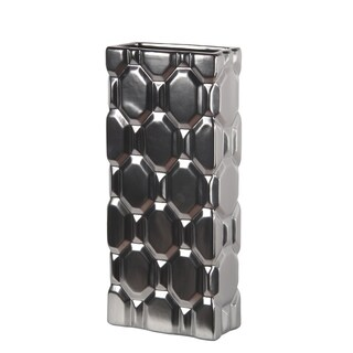 Privilege Ceramic Matt Silver Vase