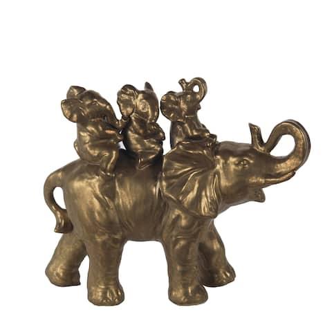 Privilege Matt Gold Ceramic Elephant