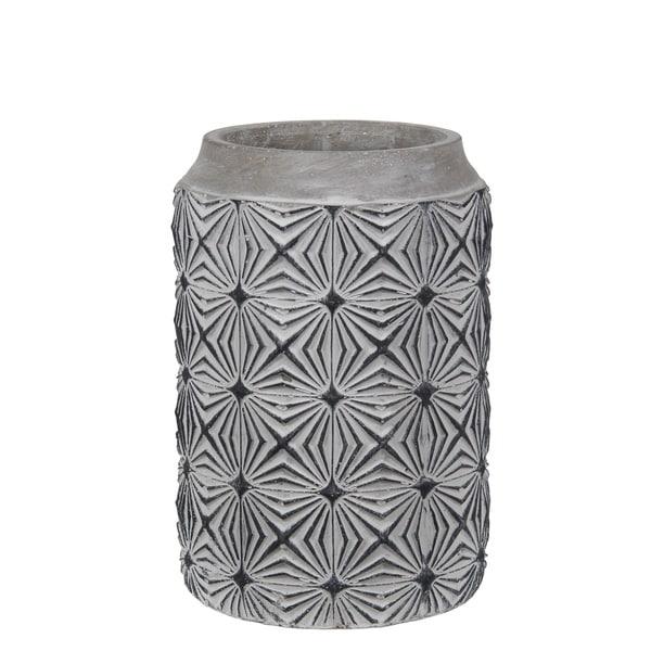 Privilege Small Geo Cement Vase