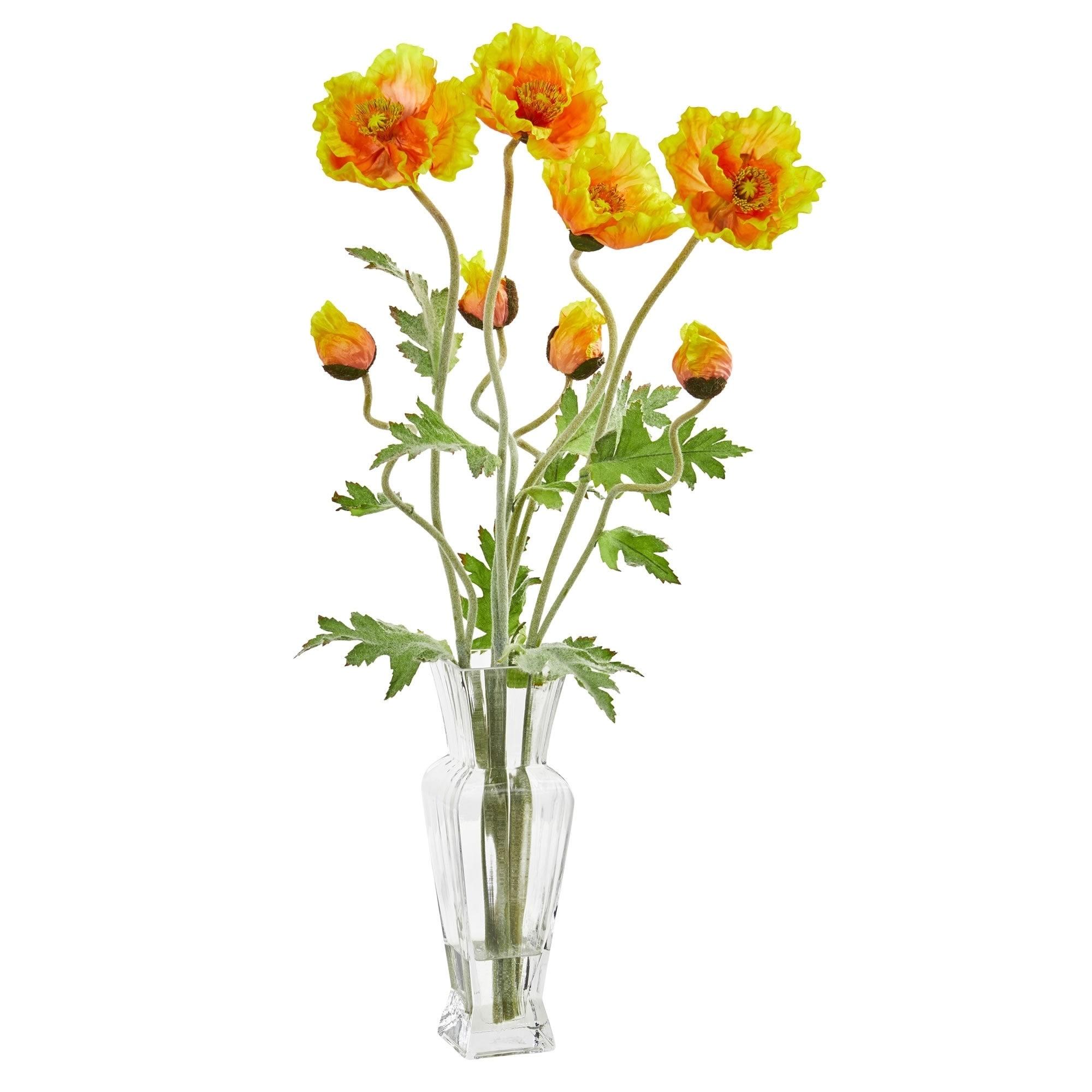26 Poppy Artificial Arrangement