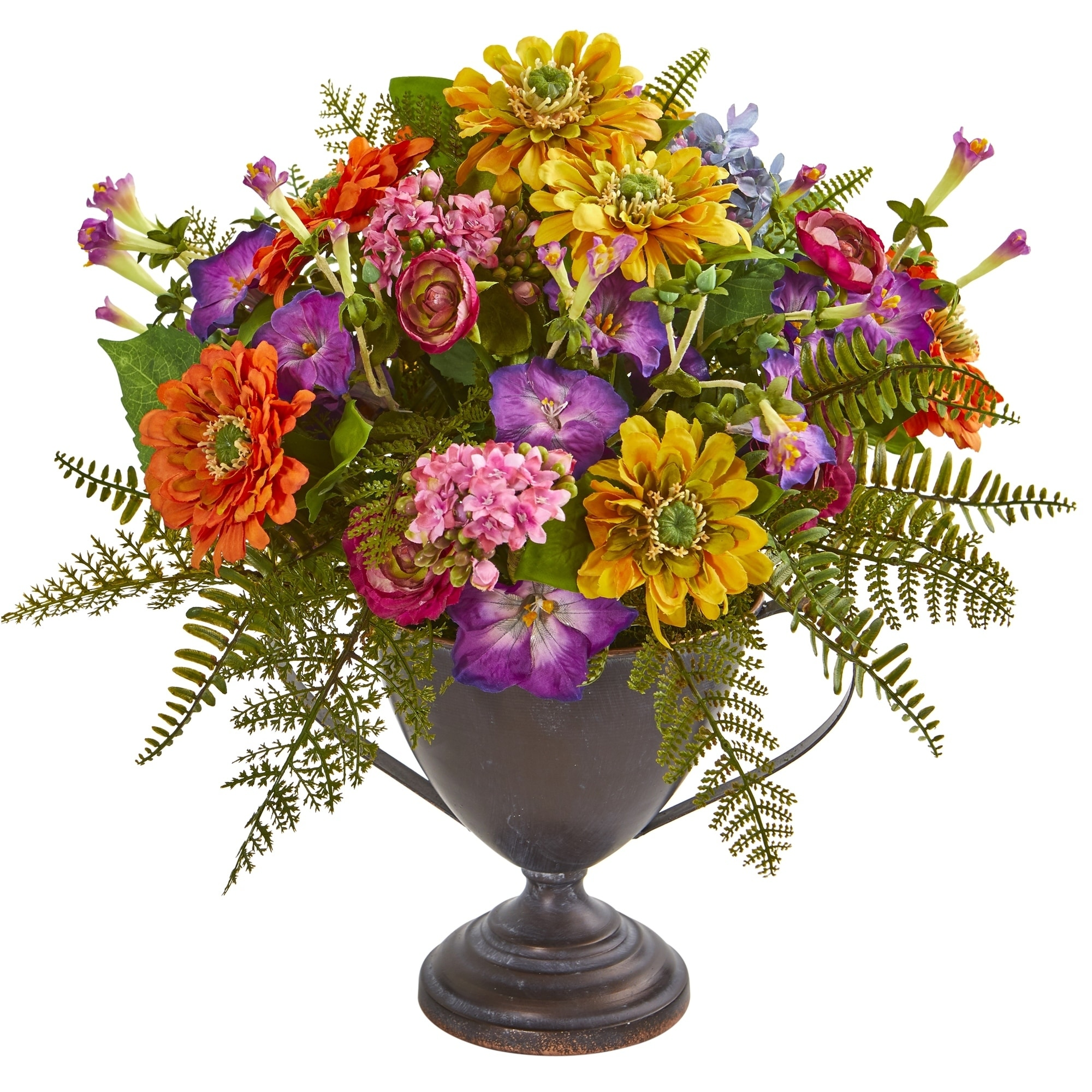 Mixed Floral Artificial Arrangement in Goblet