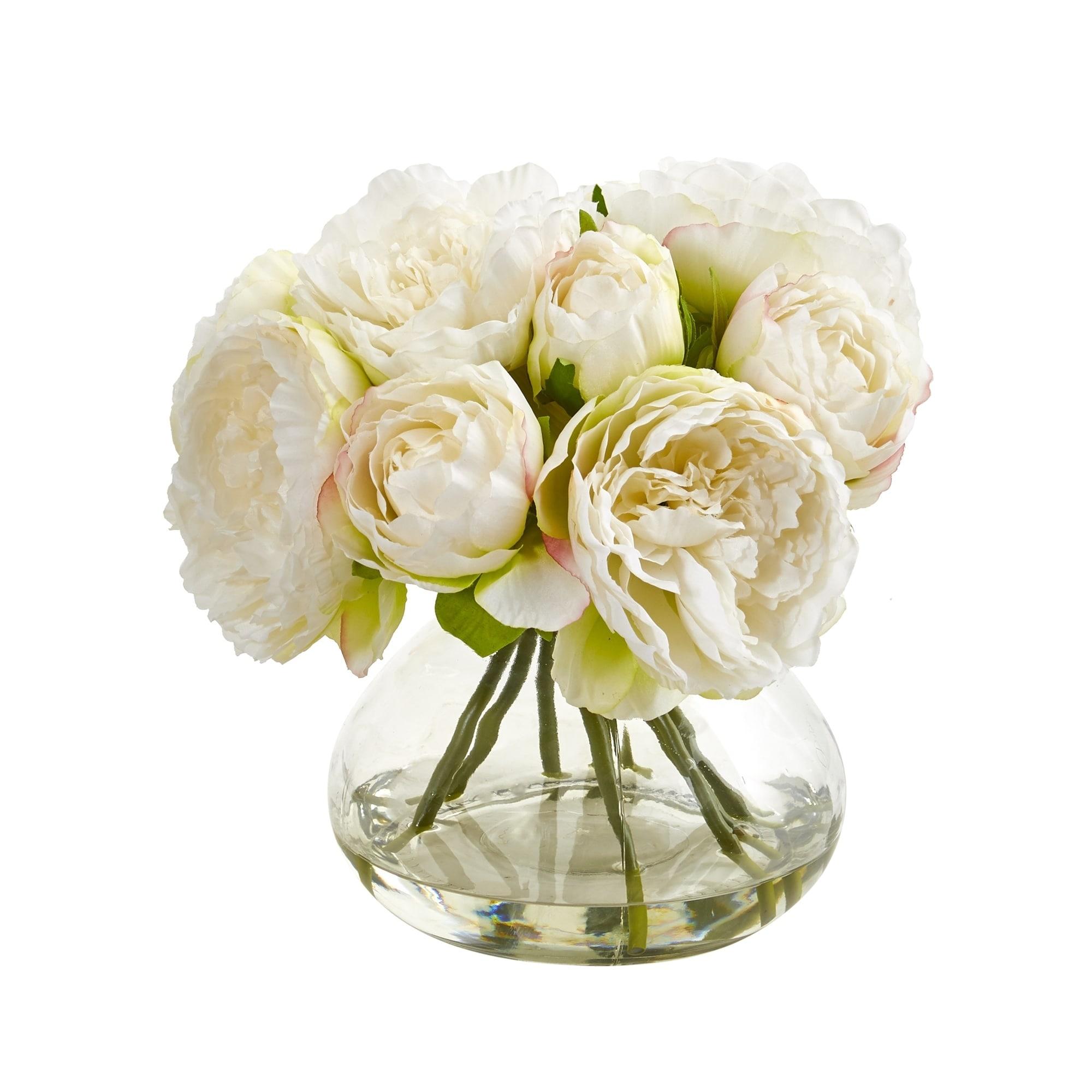 Peony Artificial Arrangement in Vase