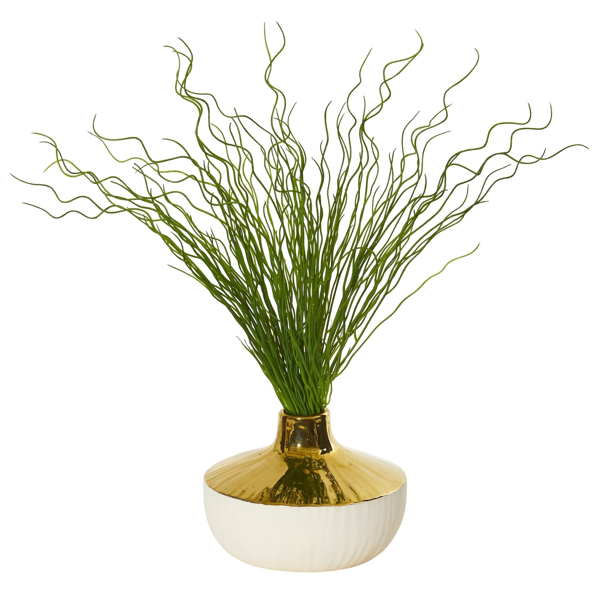 19 Curly Grass Artificial Plant in Designer Planter