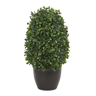"Link to 13"" Boxwood Topiary Artificial Plant UV Resistant (Indoor/Outdoor) Similar Items in Decorative Accessories"