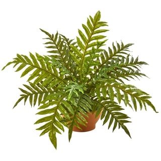 "24"" Hares Foot Fern Artificial Plant in Planter (Real Touch)"