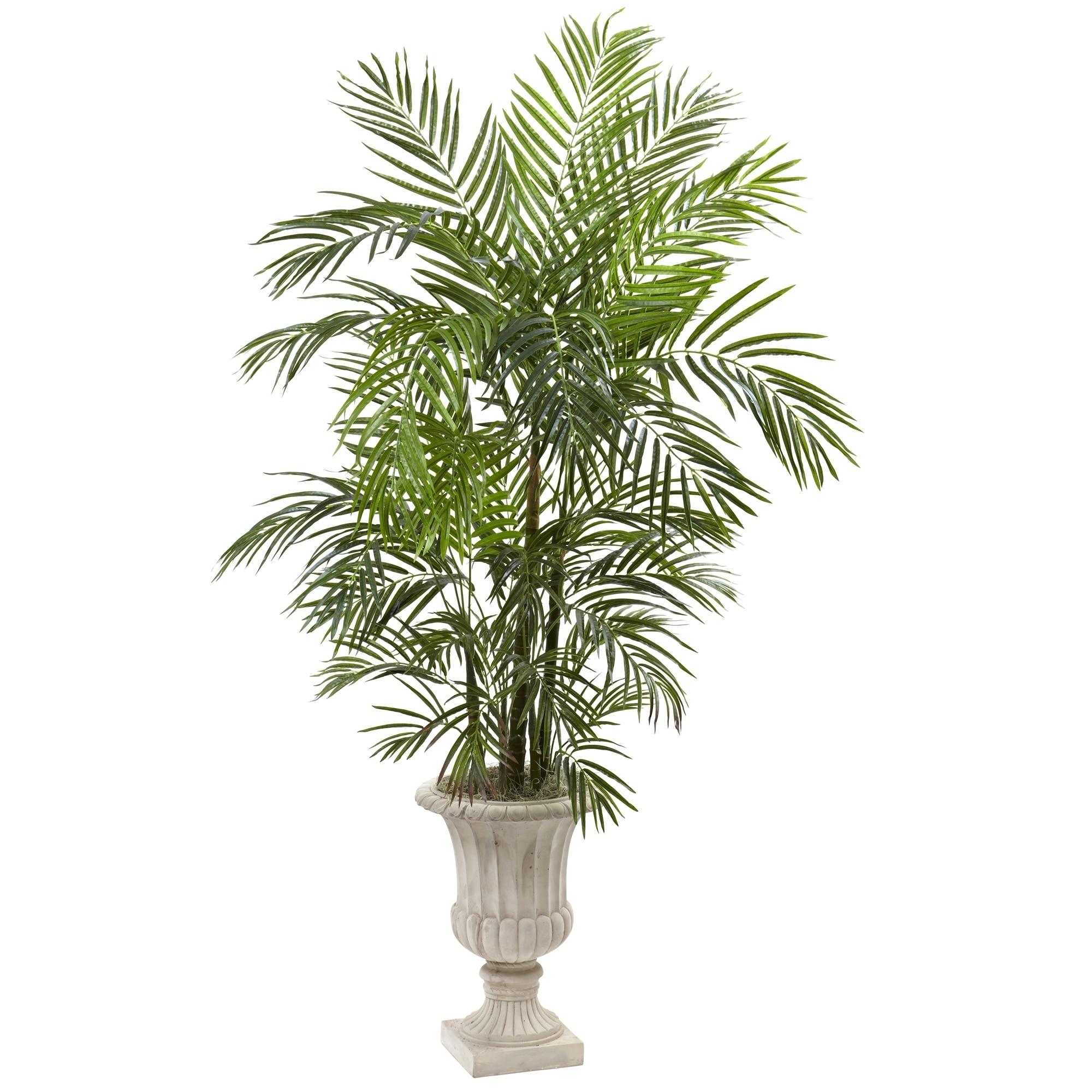 6 Areca Palm Artificial Tree in Urn UV Resistant (Indoor/Outdoor)