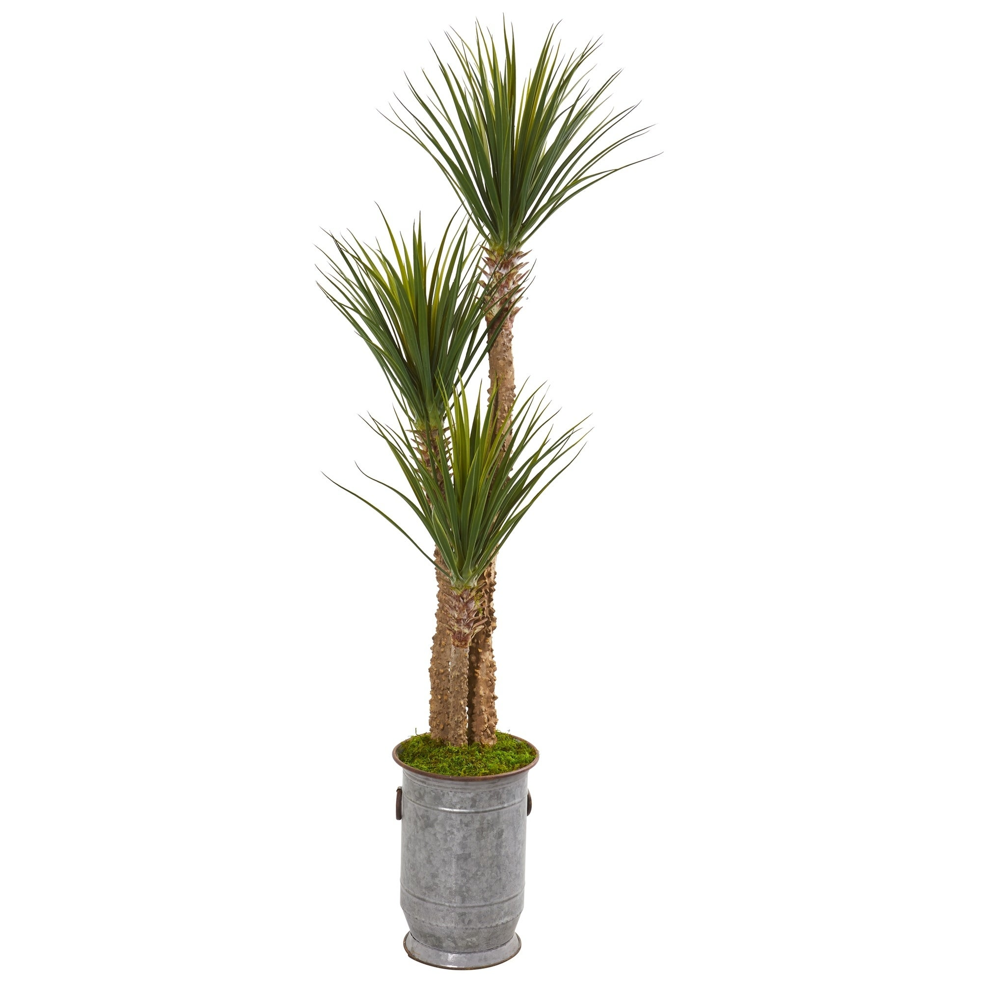 65 Yucca Artificial Tree in Metal Planter