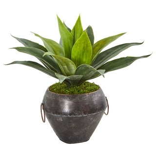 "15"" Agave Succulent Artificial Plant in Decorative Planter"