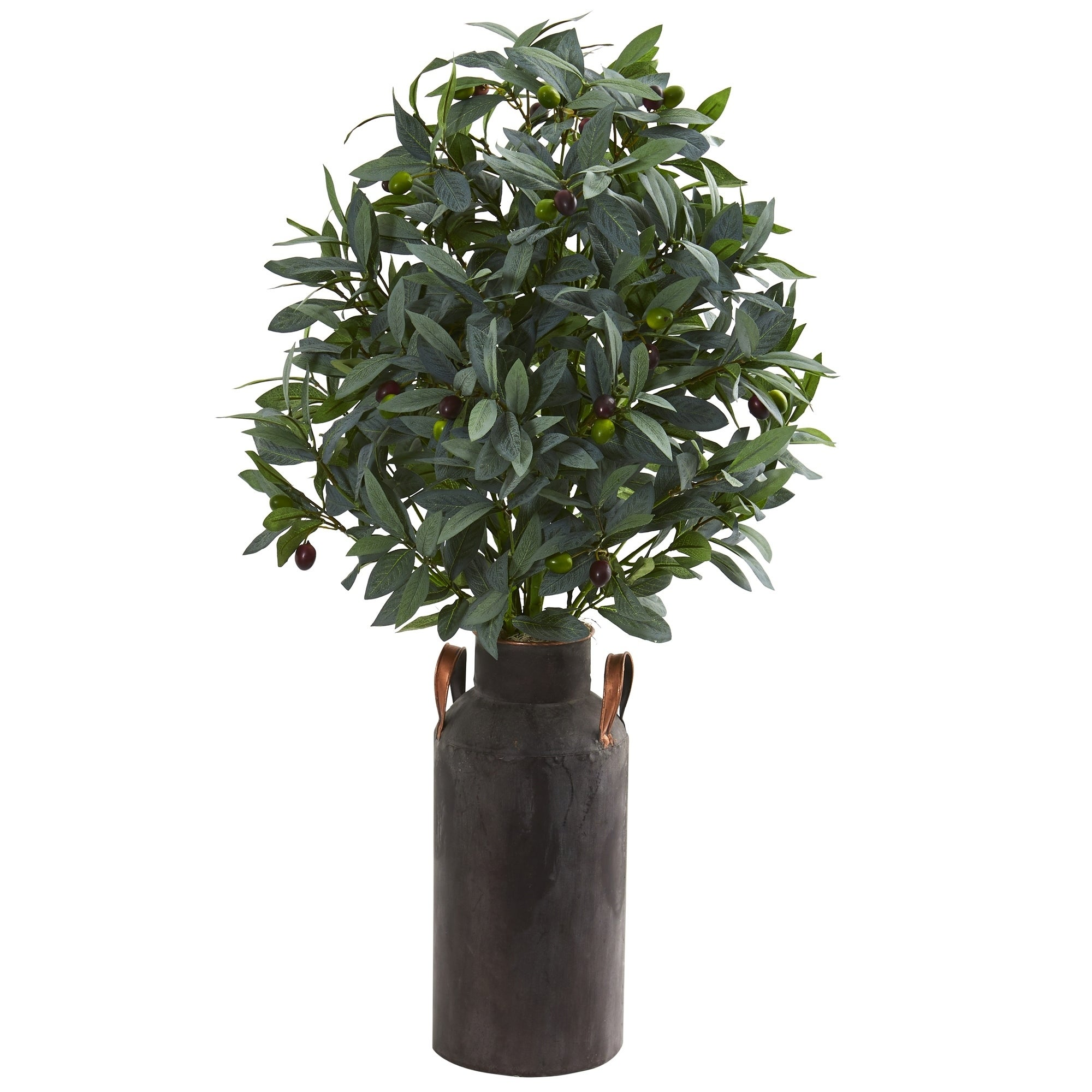 31 Olive with Berries Artificial Plant in Decorative Canister