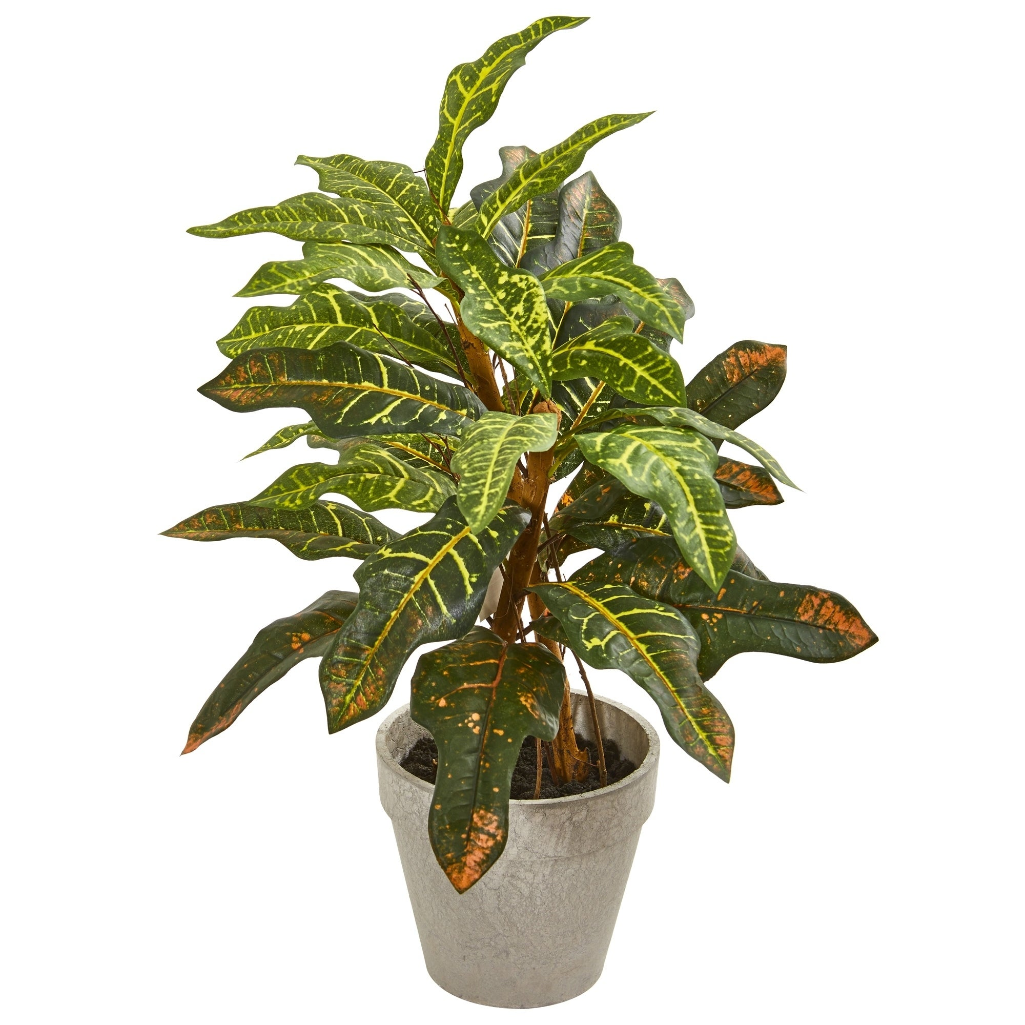 2 Croton Artificial Plant