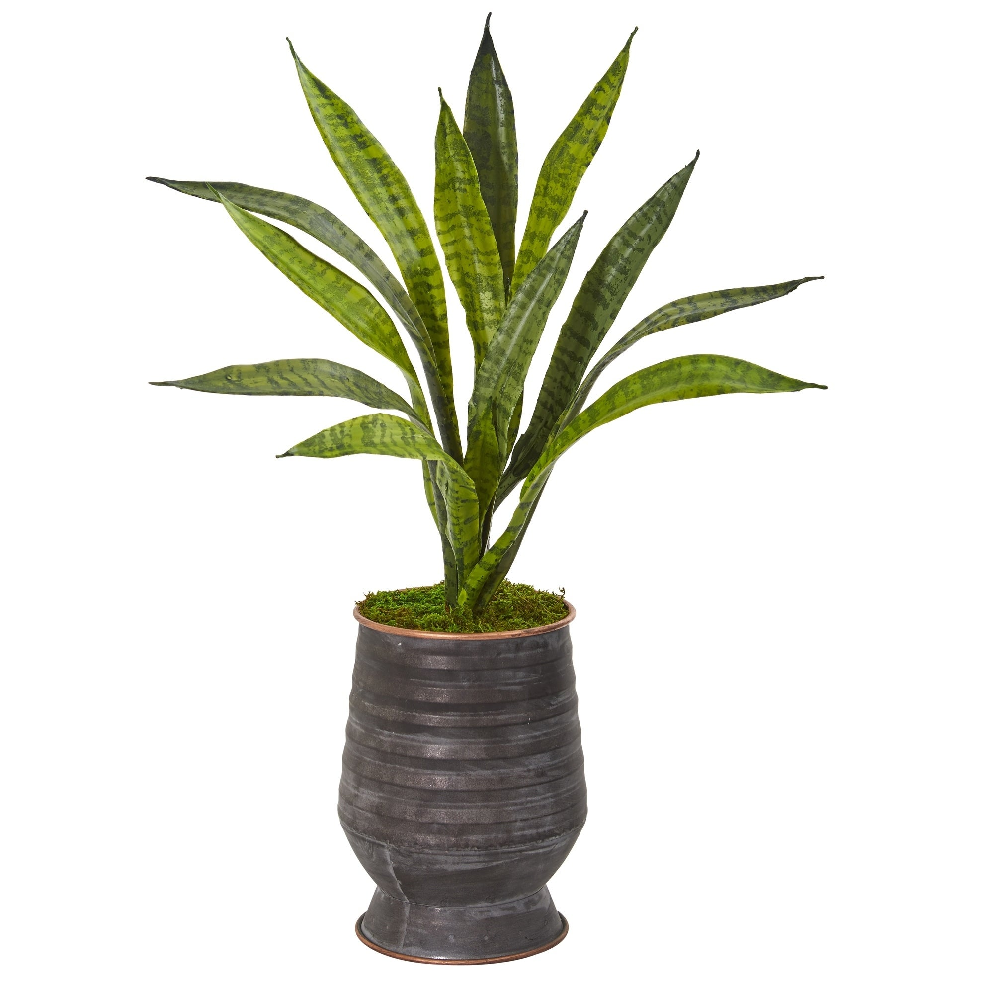 24 Sansevieria Artificial Plant in Decorative Planter
