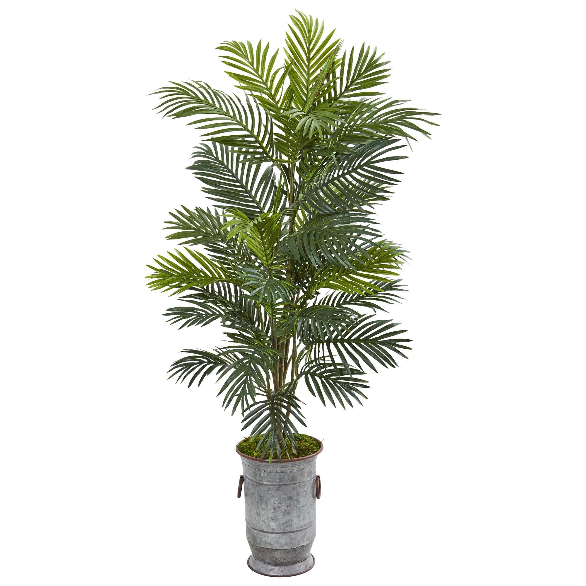 56 Areca Palm Artificial Plant in Metal Urn
