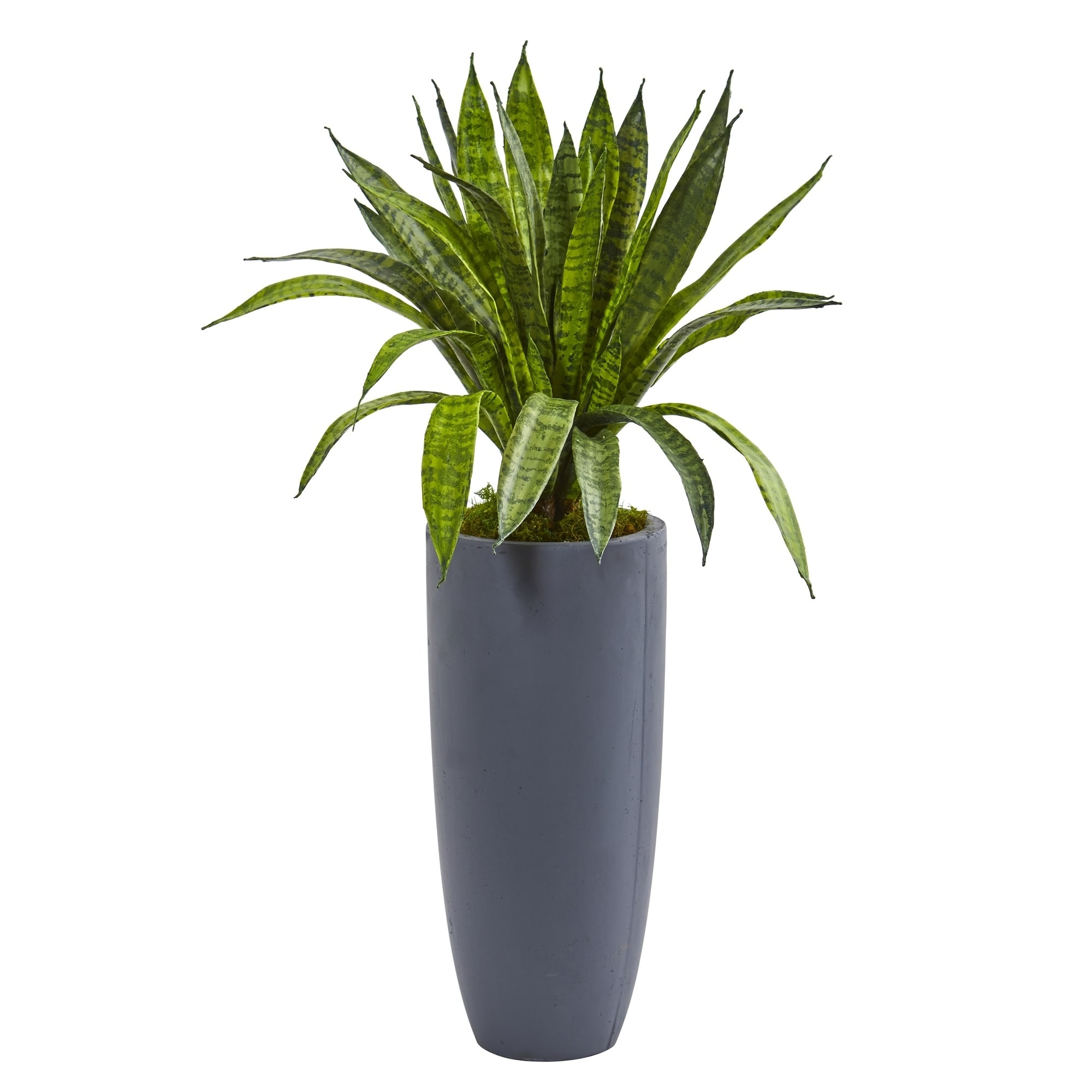 34 Sansevieria Artificial Plant in Gray Planter