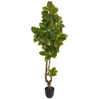 "81"" Rubber Leaf Artificial Tree (Real Touch)"