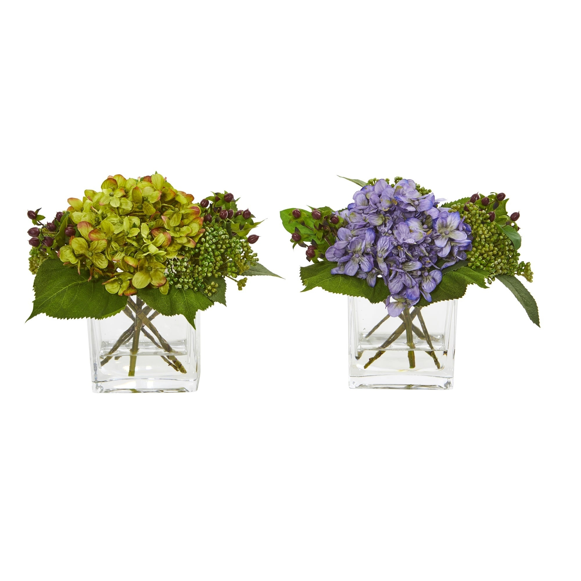 Hydrangea Artificial Arrangement (Set of 2)