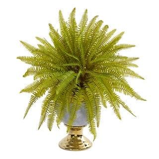 "20"" Fern Artificial Plant in Stoneware Urn"