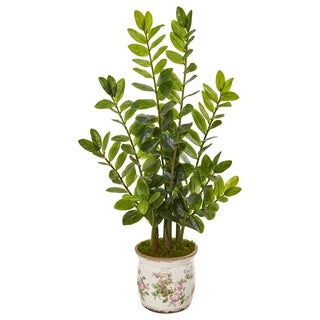 "39"" Zamioculcas Artificial Plant in Floral Design Planter"