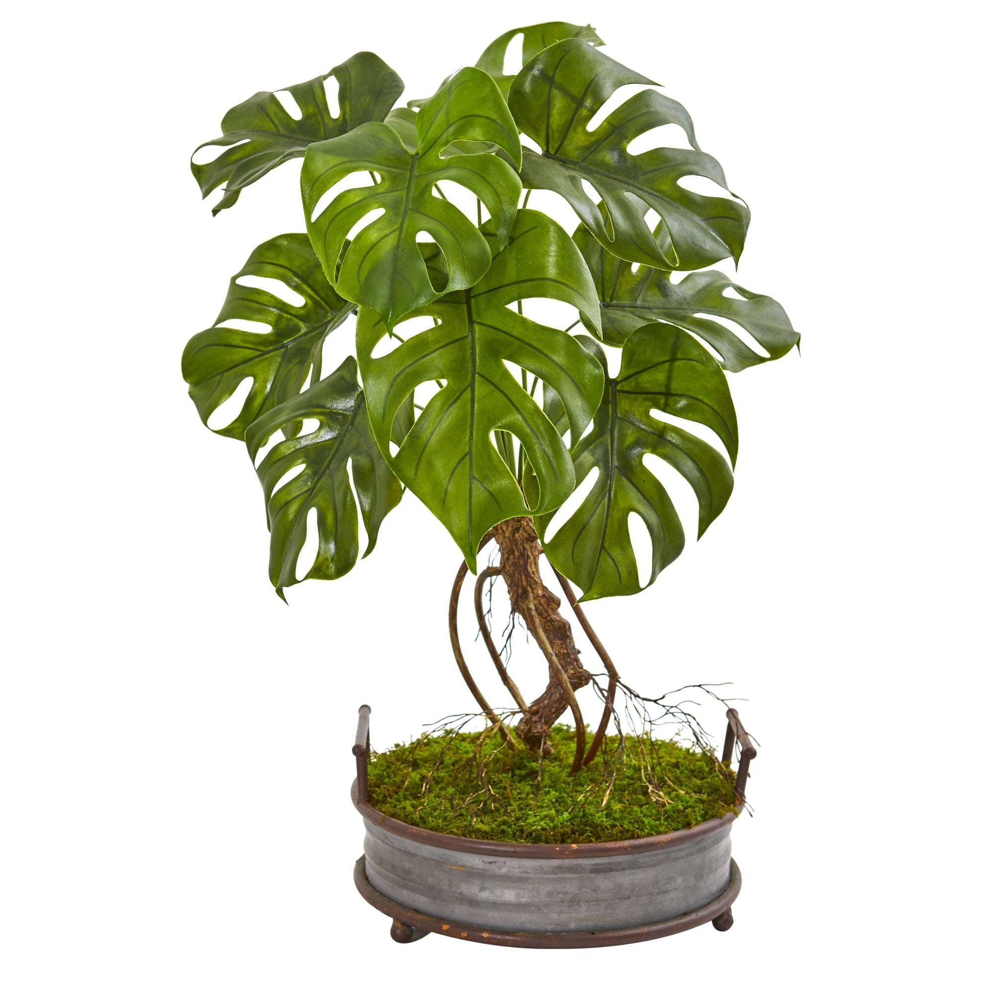 26 Monstera Artificial Plant in Metal Planter