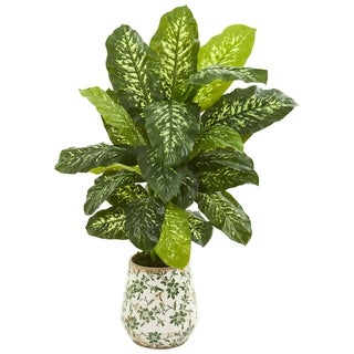 "50"" Dieffenbachia Artificial Plant in Decorative Planter (Real Touch)"