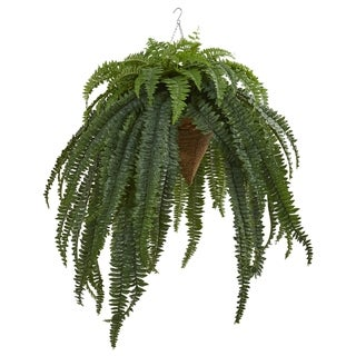 """50"""" Giant Boston Fern Artificial Plant in Hanging Cone"""