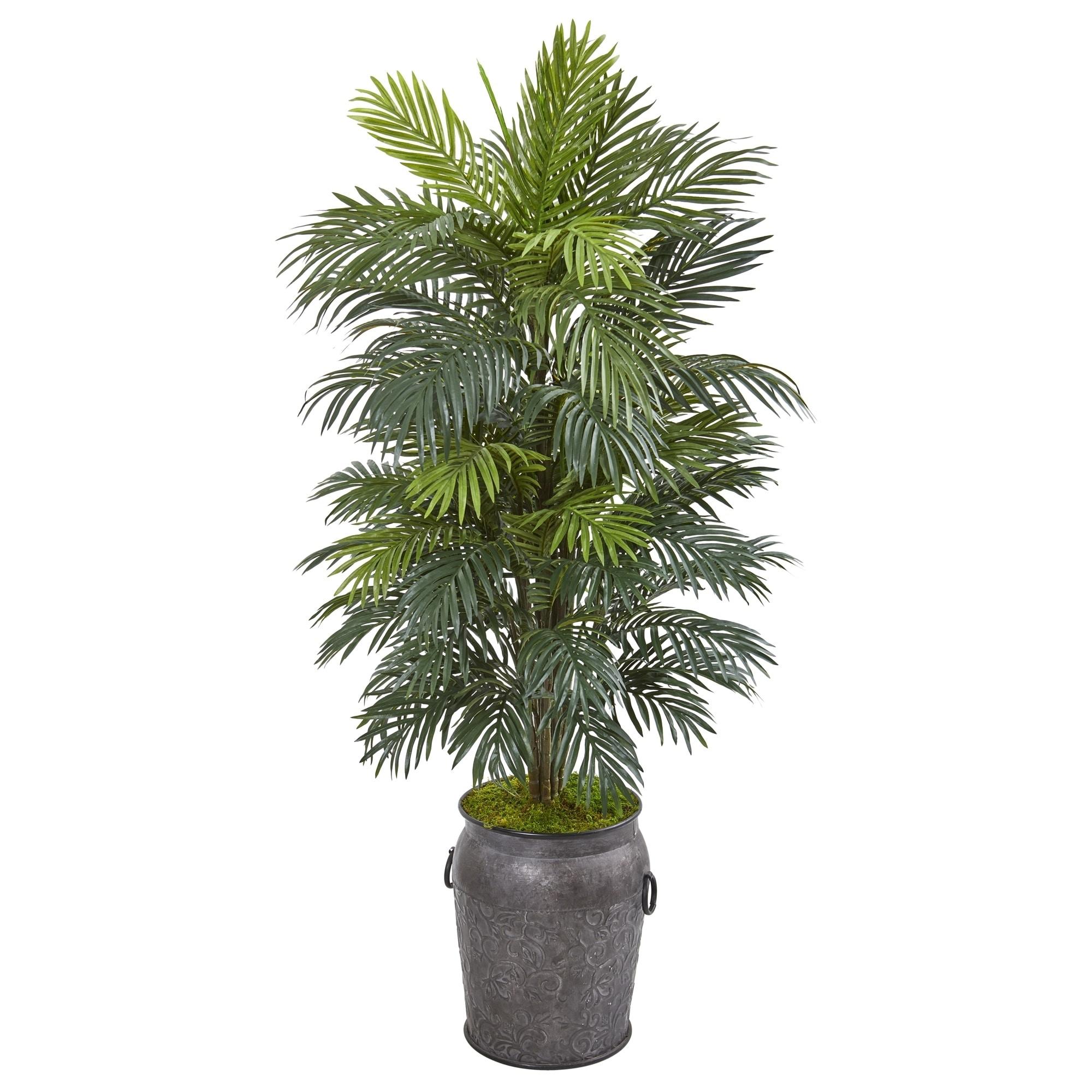 5 Areca Palm Artificial Plant in Metal Planter