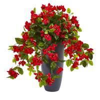 """26"""" Bougainvillea Artificial Plant in Planter UV Resistant (Indoor/Outdoor)"""