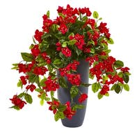 "26"" Bougainvillea Artificial Plant in Planter UV Resistant (Indoor/Outdoor)"