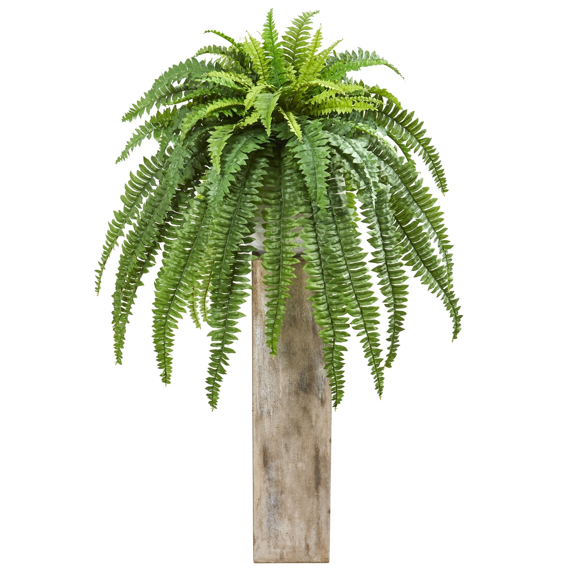 23 Boston Fern Artificial Plant in Sand Colored Planter