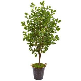 """68"""" Oak Artificial Tree in Decorative Planter"""
