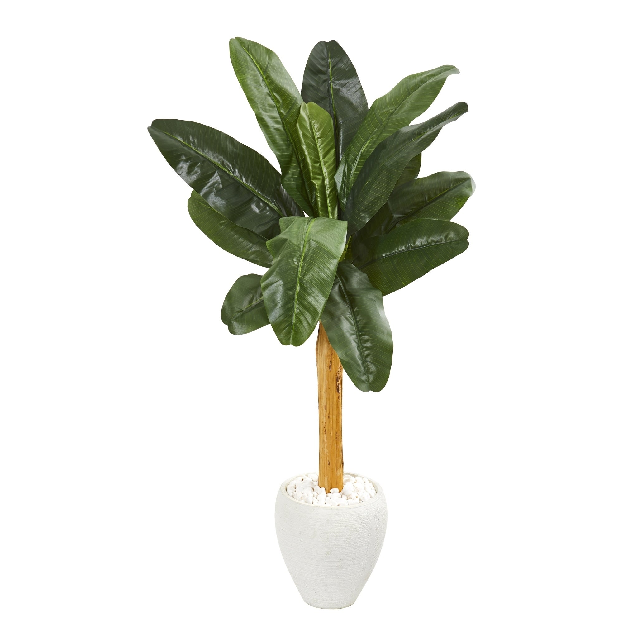 57 Banana Artificial Tree in White Planter