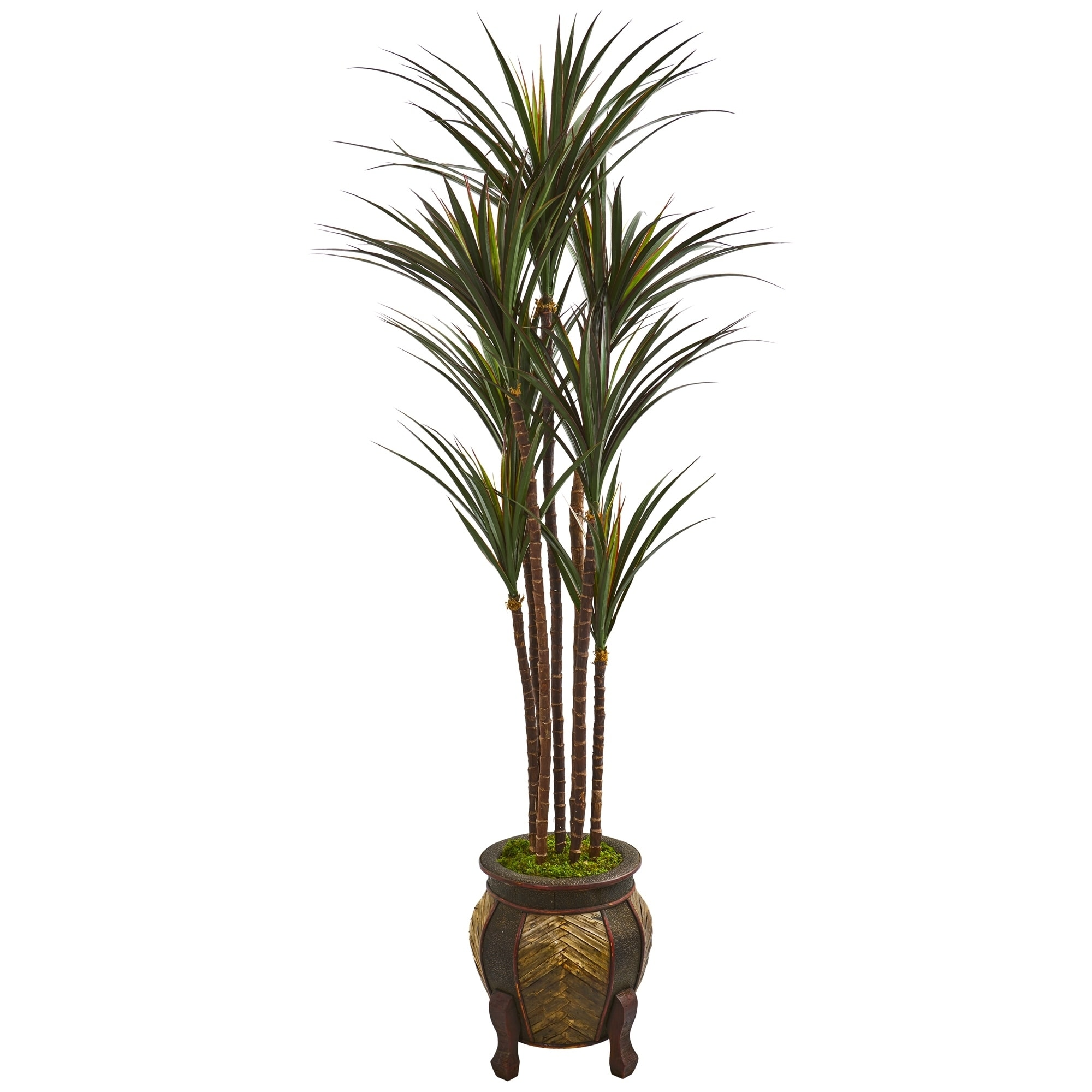 Nearly Natural 62-inch Giant Yucca Artificial Tree in Decorative Planter UV Resistant