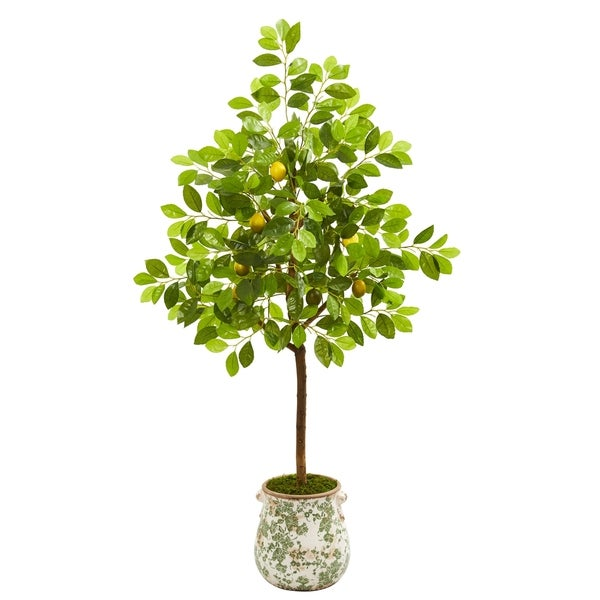 "53"" Lemon Artificial Tree in Floral Planter"
