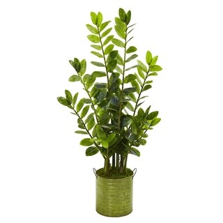 "38"" Zamioculcas Artificial Plant in Green Planter"