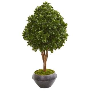 "45"" Tea Leaf Artificial Tree in Bowl UV Resistant (Indoor/Outdoor)"